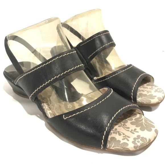 cbdfdb0d6c1 Pikolinos Black Strap Wedge Sandals Shoes. M 5affa7cba6e3eafac46e2f32